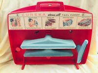 Eureka Vintage 50s 60s Vacuum Cleaner Stores-All Tool Caddy w/ Some Accessories