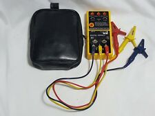 Ideal 61-521 3 Phase Tester / Motor Rotation Tester w/ Leads & Case cat iii