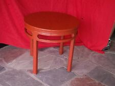 """1950`s SIGNED BAKER END TABLE FAR EAST COLLECTION CINNABAR 26"""" X 24"""""""
