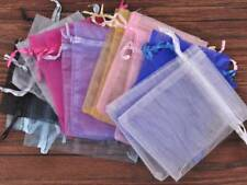 100pcs 7~11cm Sheer Gauze Organza Wedding Party Gift Candy Bags Jewelry Pouches
