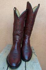 DAN POST Mens Cowboy Western Boots Soft Light Burgundy Leather Riding Size 11D