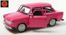 Trabi-Jubiläum 2014: 50 J. Trabant 601 Modellauto 11cm WELLY Sonderfarbe pink