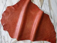LEDER TIP 31932-AC, Lederreste, 1 Lederhaut, orangefarben nappa, geprägt