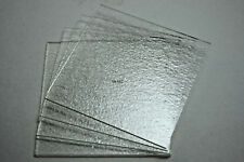 """4 PIECES 3mm CLEAR 3""""x 3"""" BULLSEYE GLASS SQUARES TILES 90 COE TESTED COMPATIBLE"""