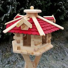 Großes Vogelhaus Vogelhäuser Vogelfutterhaus mit Futterspender Holz o. Ständer