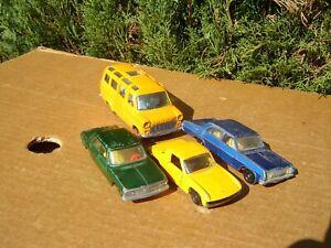 SIKU MODELL: LOT DE 4 MODELES: AUDI 100 / PORSCHE 914 / OPEL KAPITAN / TRANSIT