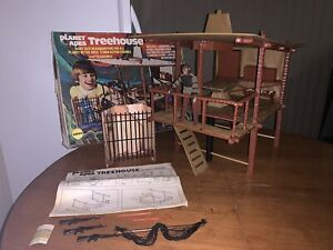 Mego Planet Of The Apes Treehouse & Cornelius Figure Never Played 1974 W/ Box