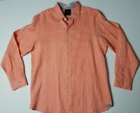 Tommy Bahama Mens Linen Blend Long Sleeve Button Casual Shirt Size L Salmon