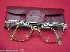 Jolie ancienne paire de lunettes, aluminium, Gaspari, Made in USA, design