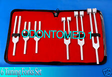 Tuning Forks Aluminum Set of 6 Frequencies Surgical Instruments Supply