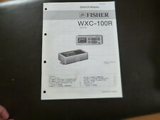 Original Service Manual Schaltplan Fisher WXC-100R