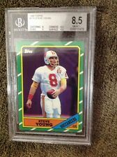 1986 Topps # 374 Steve Young Buccaneers Beckett Graded Certified Nm-Mt 8.5+