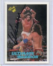 ULTIMATE WARRIOR 1990 CLASSIC AUTOGRAPH CARD HAND SIGNED RARE! WWF SUPERSTAR