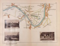 Hampton Court Palace Park, Kingston RIVER THAMES C1885 HENRY TAUNT MAP 30