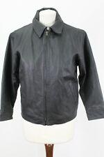 GAP Black Cow Leather Jacket size M/M(7-8)