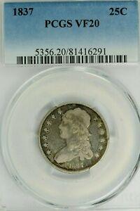1837 Capped Bust Quarter : PCGS VF20