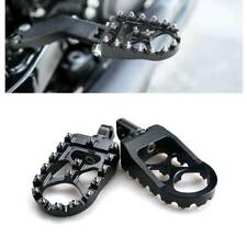 Black CNC Rotating Wide Foot Pegs Footrest For Sportster 883 Anniversary 2003