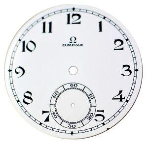 Orig. NOS Vintage Omega Porcelain Pocket Watch Dial with Sunken Seconds Track #6