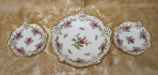 Set of 3 ROSENTHAL MOLIERE MOOSROSE #2984 Pierced Candy/Nut Dishes Germany