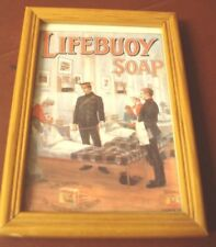 LIFEBUOY SOAP  FRAMED ADVERTISING PICTURE.