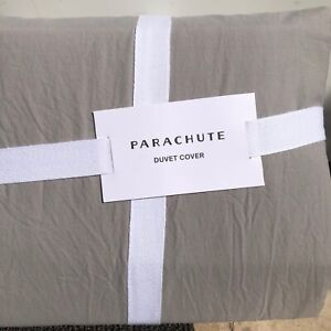 Parachute Brushed Percale Duvet Cover- Full/Queen-Gray