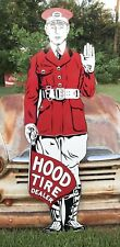 "Antique Vintage Old Style Hood Tires Sign Towering 71""!"