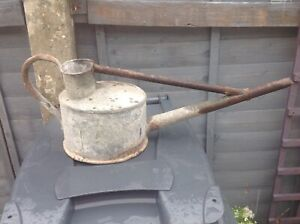 Vintage HAWS  Long Reach Galvanized Metal Watering Can 1 Gallon For Planter