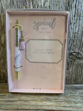 Special Gift Card Holder With Marble Look Pen & Tassel In Gift Box- Grad Gift!