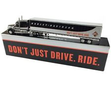 1:64 DCP *BLACK & SILVER* INTERNATIONAL LONESTAR Semi w/Harley Davidson Trailer