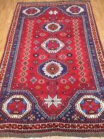 "5'3"" x 8'3"" New Tribal Turkeman Oriental Rug - Hand Made - 100% Wool Pile"