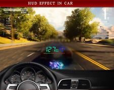 1pc BK Auto Car Truck 3.5'' HUD Head Up Display Speed Alarm Compass Dash Parts