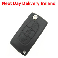 Uncut Replacement Blank Car Shell Key Fob Light Button Peugeot 307 406 Citroen