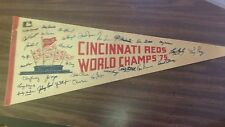 CINCINNATI REDS 1975 VINTAGE WORLD SERIES CHAMPS '75 WITH SIGNATURES ROSE/BENCH