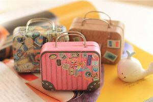 Mini Tinplate Metal Trinket Candy Box Jewelry Storage Case Kids Birthday Party