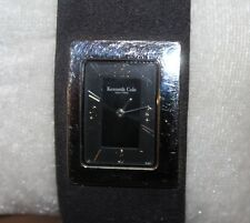 Ladies Kenneth Cole Quartz Water Resistant Watch with BLACK Band F79-C
