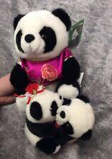 Panda plush teddies X 2, 1 Talking