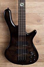 2017 Wolf S8 4 String Active Passive Jazz Bass Black