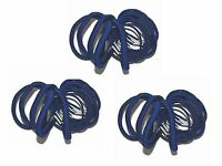 54 x Royal Blue Thick and Thin School Hair Elastic Bobbles Value Pack
