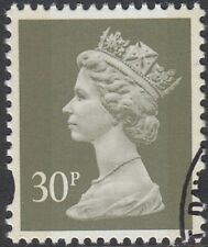 GB Stamps 1995 - Machin Definitive 30p olive Grey, 2 bands, S/G Y1777, VF Used