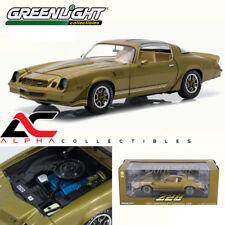 GREENLIGHT 12907 1:18 1981 CHEVY CAMARO Z/28 GOLD METALLIC W/ STRIPES T-TOPS