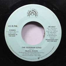 Pop Promo 45 Glass Moon - The Telegram Song / The Telegram Song On Radio Records