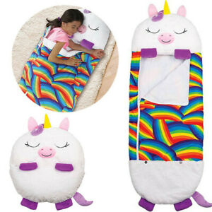 Happy Nappers Sleeping Bag Kids Boys Girls Play Pillow Unicorn Dog Dragon Cat