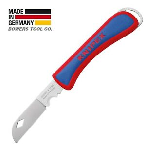 Knipex Electricians Folding Pocket Knife Cable Stripper 162050 Made in Germany