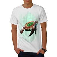 Wellcoda Sea Turtle Progammer Mens T-shirt, Tortoise Graphic Design Printed Tee