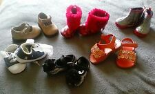 Variety of baby shoes for a girl. Sizes 1, 2, and 3's.
