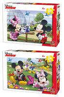 24 Pièce Disney Mickey & Minnie Mouse Choix De Deux Enfants Jigsaw Puzzles