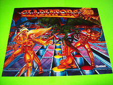 Gottlieb GLADIATORS Original 1993 NOS Pinball Machine TRANSLITE Backglass Art