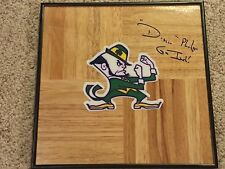 Digger Phelps Signed Notre Dame Fighting Irish Framed Basketball Floor ND