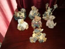 Boyds Bears figurines lot of 7 no boxes, but great shape each numbered.