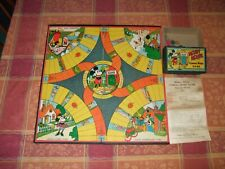 RARE 1930s MICKEY MOUSE COMING HOME Board Game w Instructions & Pieces
